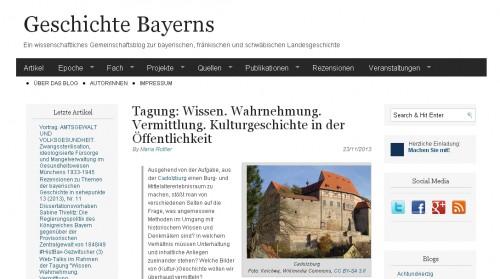 Blog Geschichte Bayerns