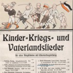 Liederbuch mit Kriegsliedern; Bayerische Staatsbibliothek