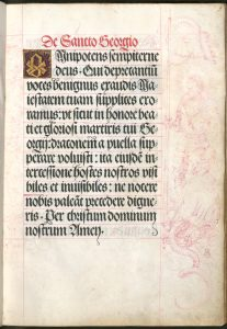 Gebetbuch Kaiser Maximilians I., hl. Georg von Albrecht Dürer